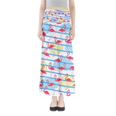 Flamingo pattern Maxi Skirts