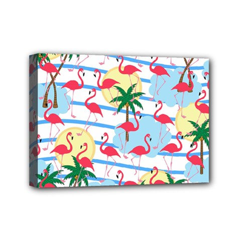 Flamingo pattern Mini Canvas 7  x 5