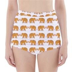 Indian elephant  High-Waisted Bikini Bottoms