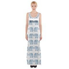 Indian elephant  Maxi Thigh Split Dress