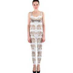 Indian elephant OnePiece Catsuit