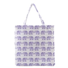 Indian elephant pattern Grocery Tote Bag