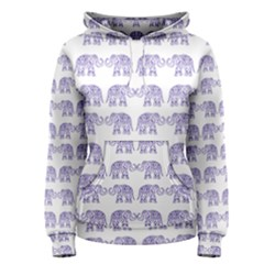 Indian elephant pattern Women s Pullover Hoodie