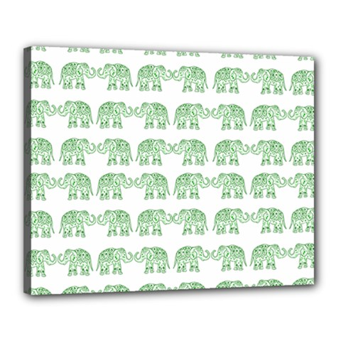 Indian elephant pattern Canvas 20  x 16