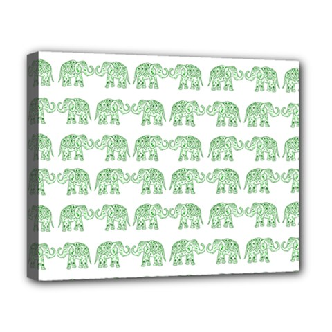 Indian elephant pattern Deluxe Canvas 20  x 16