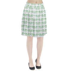 Indian elephant pattern Pleated Skirt