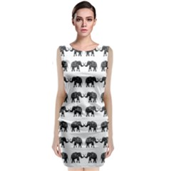 Indian elephant pattern Classic Sleeveless Midi Dress