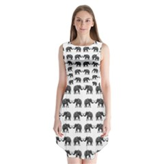 Indian elephant pattern Sleeveless Chiffon Dress