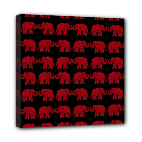 Indian elephant pattern Mini Canvas 8  x 8