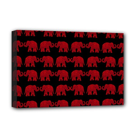 Indian elephant pattern Deluxe Canvas 18  x 12