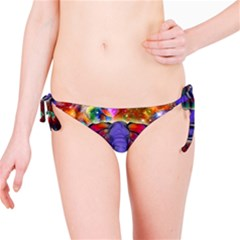 Abstract Elephant With Butterfly Ears Colorful Galaxy Bikini Bottom