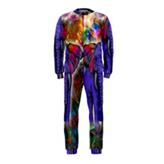Abstract Elephant With Butterfly Ears Colorful Galaxy Onepiece Jumpsuit (kids)