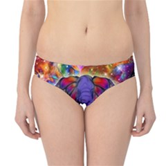 Abstract Elephant With Butterfly Ears Colorful Galaxy Hipster Bikini Bottoms