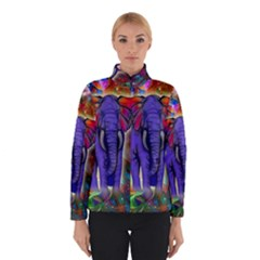 Abstract Elephant With Butterfly Ears Colorful Galaxy Winterwear