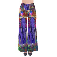 Abstract Elephant With Butterfly Ears Colorful Galaxy Pants