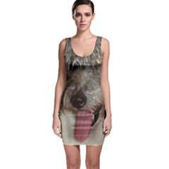 Old English Sheepdog Sleeveless Bodycon Dress
