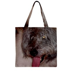 Old English Sheepdog Zipper Grocery Tote Bag