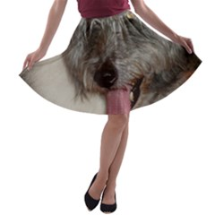 Old English Sheepdog A-line Skater Skirt