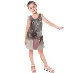 Old English Sheepdog Kids  Sleeveless Dress
