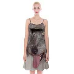 Old English Sheepdog Spaghetti Strap Velvet Dress