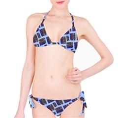 Abstract Pattern Seamless Artwork Bikini Set