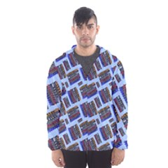 Abstract Pattern Seamless Artwork Hooded Wind Breaker (men)
