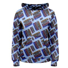 Abstract Pattern Seamless Artwork Women s Pullover Hoodie