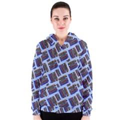 Abstract Pattern Seamless Artwork Women s Zipper Hoodie
