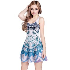 Mandalas Symmetry Meditation Round Reversible Sleeveless Dress