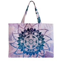 Mandalas Symmetry Meditation Round Mini Tote Bag