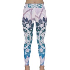 Mandalas Symmetry Meditation Round Classic Yoga Leggings