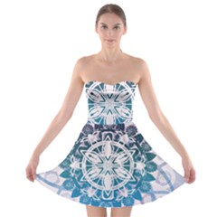 Mandalas Symmetry Meditation Round Strapless Bra Top Dress
