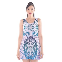 Mandalas Symmetry Meditation Round Scoop Neck Skater Dress
