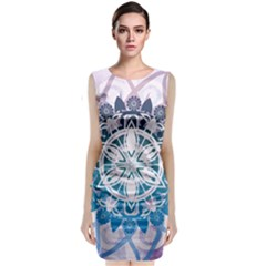Mandalas Symmetry Meditation Round Classic Sleeveless Midi Dress