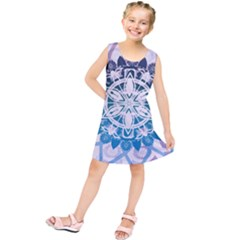 Mandalas Symmetry Meditation Round Kids  Tunic Dress