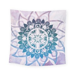 Mandalas Symmetry Meditation Round Square Tapestry (small)