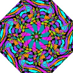Abstract Art Squiggly Loops Multicolored Straight Umbrellas