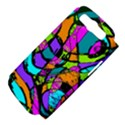 Abstract Art Squiggly Loops Multicolored Samsung Galaxy S III Hardshell Case (PC+Silicone) View4
