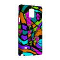 Abstract Art Squiggly Loops Multicolored Samsung Galaxy Note 4 Hardshell Case View3