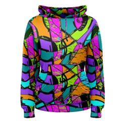 Abstract Art Squiggly Loops Multicolored Women s Pullover Hoodie