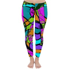 Abstract Art Squiggly Loops Multicolored Classic Winter Leggings