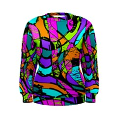 Abstract Art Squiggly Loops Multicolored Women s Sweatshirt