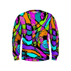 Abstract Art Squiggly Loops Multicolored Kids  Sweatshirt