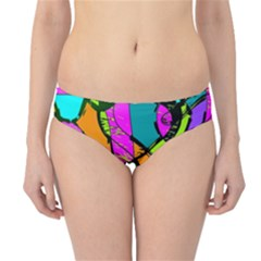 Abstract Art Squiggly Loops Multicolored Hipster Bikini Bottoms
