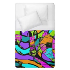 Abstract Art Squiggly Loops Multicolored Duvet Cover (single Size)