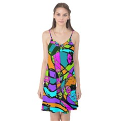 Abstract Art Squiggly Loops Multicolored Camis Nightgown