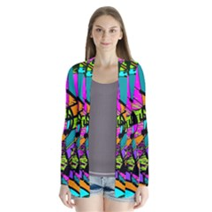 Abstract Art Squiggly Loops Multicolored Cardigans