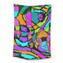 Abstract Art Squiggly Loops Multicolored Small Tapestry View1