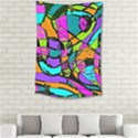 Abstract Art Squiggly Loops Multicolored Small Tapestry View2