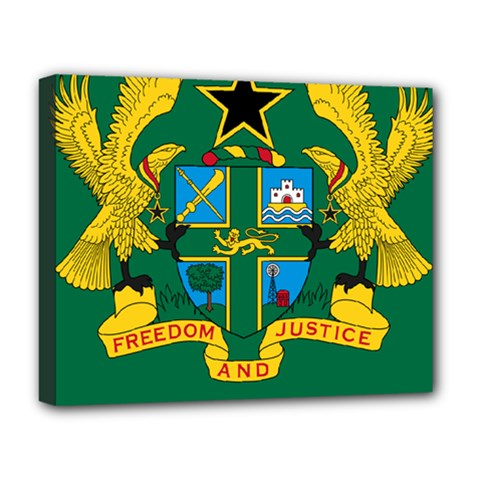 National Seal of Ghana Deluxe Canvas 20  x 16